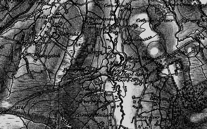 Old map of Afon Senni in 1898