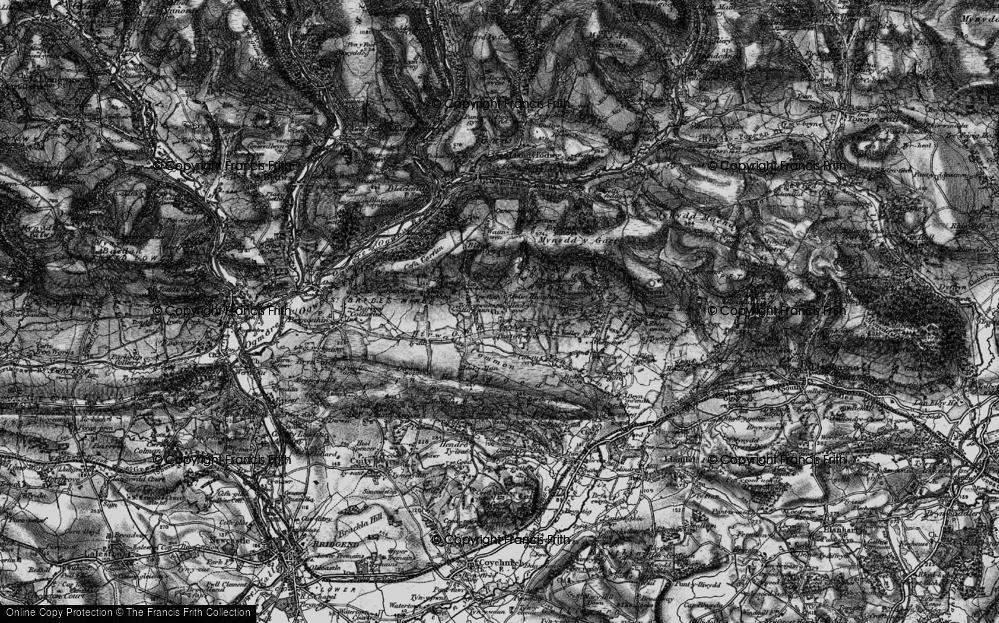 Old Map of Heol-y-Cyw, 1897 in 1897