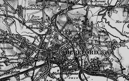 Old map of Hereford in 1898