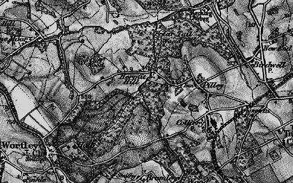 Old map of Lane Royds Park in 1896
