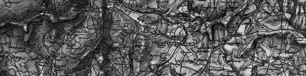 Old map of Afon Gafel in 1898