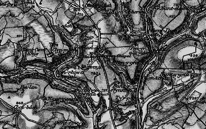 Old map of Afon Duad in 1898