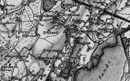 Old map of Bodorgan in 1899