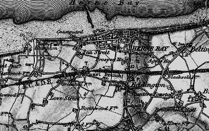 Old map of Herne Bay in 1894