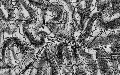 Old map of Herniss in 1895