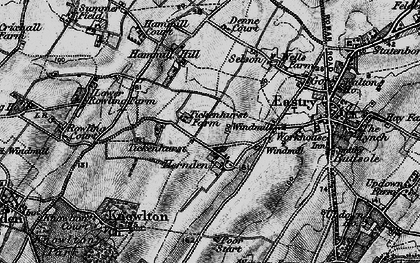 Old map of Tickenhurst in 1895