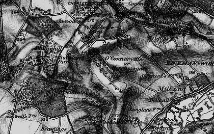 Old map of Heronsgate in 1896