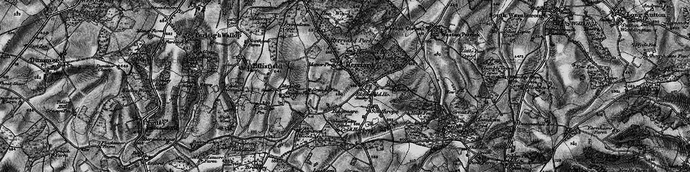 Old map of Herriard in 1895