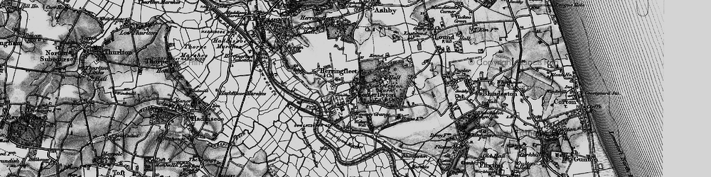 Old map of Wicker Well in 1898