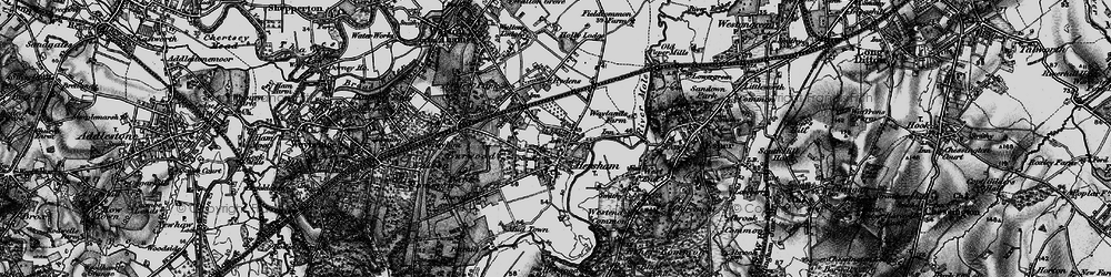 Old map of Hersham in 1896