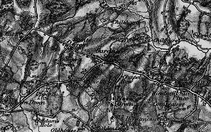 Old map of Herstmonceux in 1895
