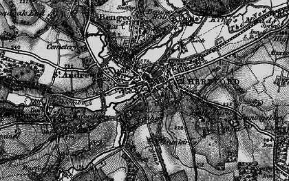 Old map of Hertford in 1896