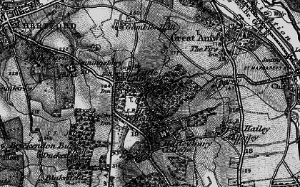 Old map of Balls Wood in 1896
