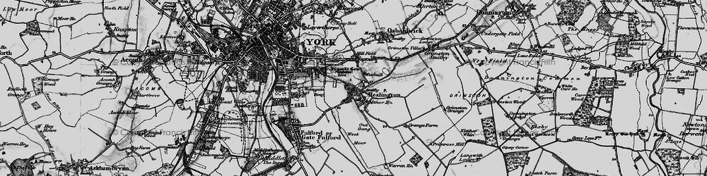 Old map of Heslington in 1898