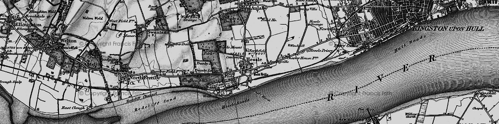 Old map of Hessle in 1895