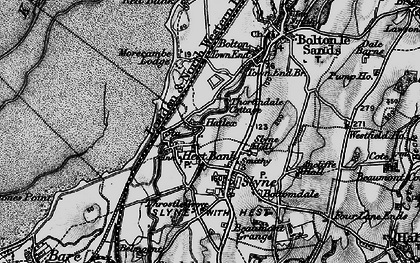 Old map of Hest Bank in 1898
