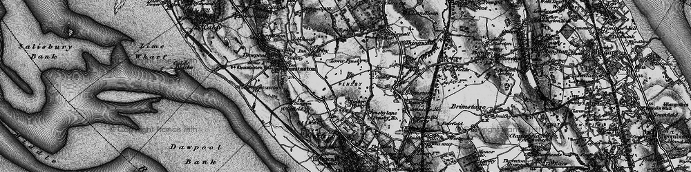 Old map of Heswall in 1896
