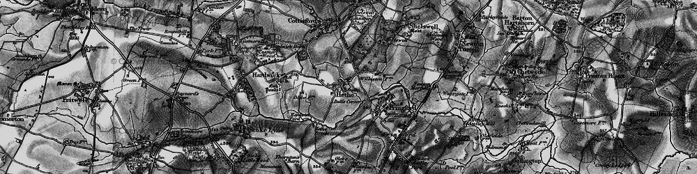 Old map of Willaston Village in 1896