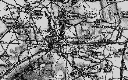 Old map of Hetton-Le-Hole in 1898