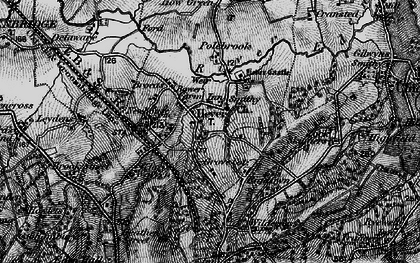 Old map of Hever in 1895