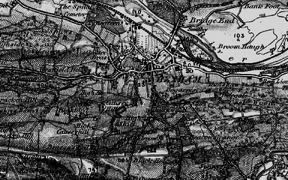 Old map of Hexham in 1898
