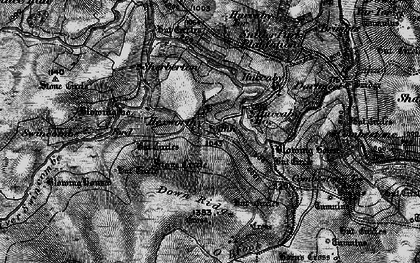 Old map of Aune in 1898