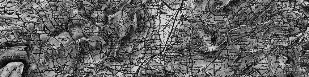 Old map of Admergill Pasture in 1898
