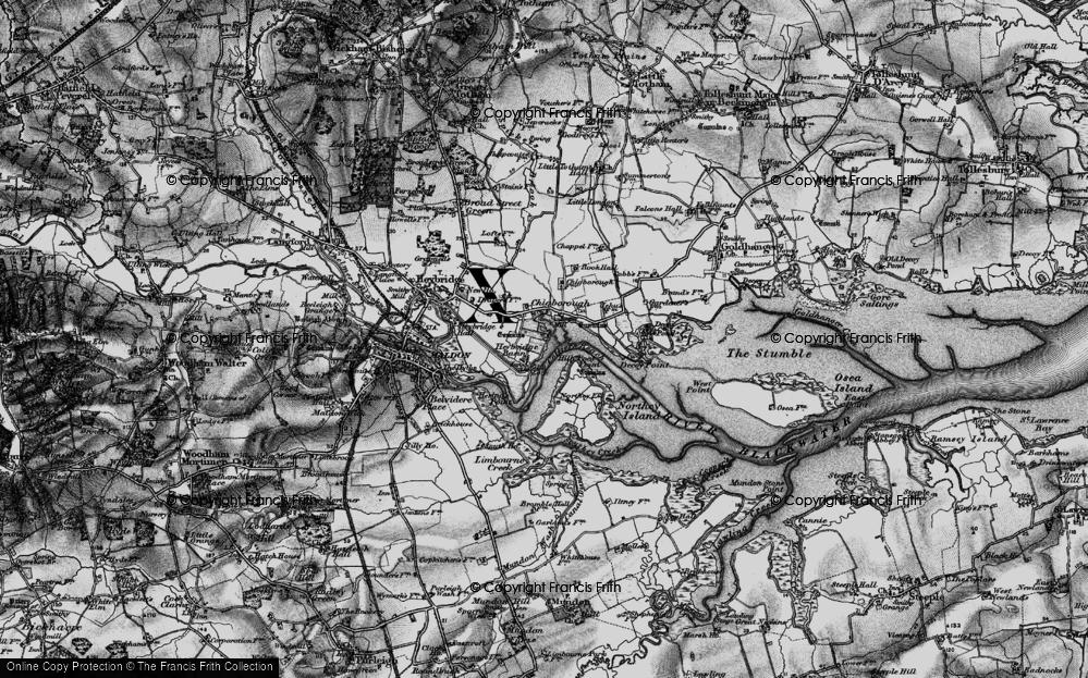 Old Map of Heybridge Basin, 1896 in 1896