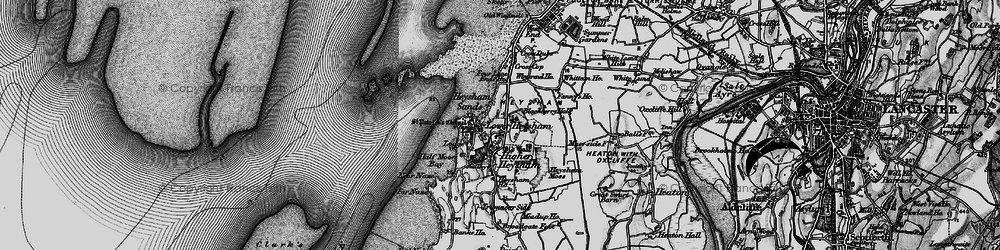 Old map of Heysham in 1898