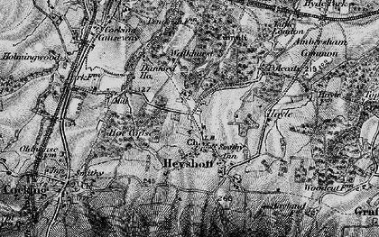 Old map of Heyshott in 1895