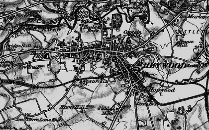 Old map of Heywood in 1896