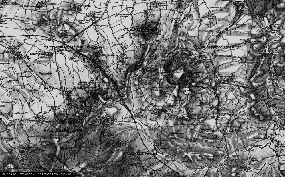 Old Map of Hidcote Boyce, 1898 in 1898