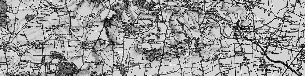 Old map of Wheelabout Wood in 1899