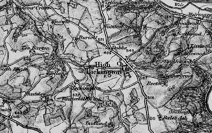 Old map of Bale's Ash in 1898
