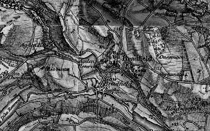 Old map of Agden Resr in 1896