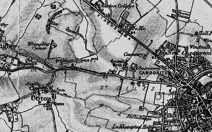 Old map of Wrangling Corner in 1898