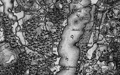 Old map of Bark House Wood in 1897