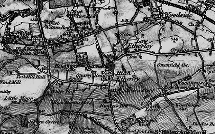 Old map of High Etherley in 1897
