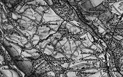 Old map of Westwood Country Park in 1896