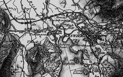 Old map of Lingholm in 1897