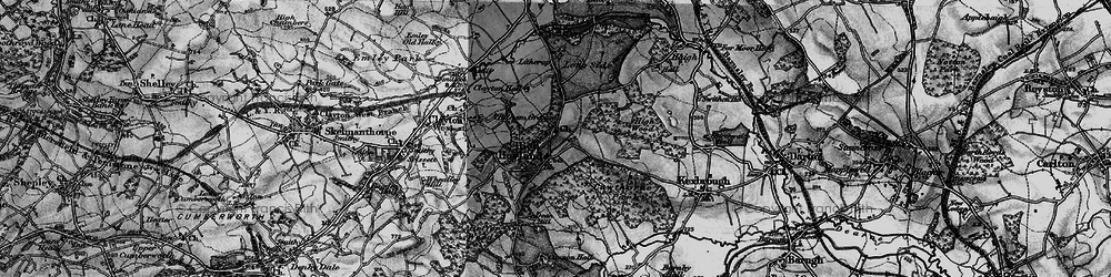 Old map of High Hoyland in 1896