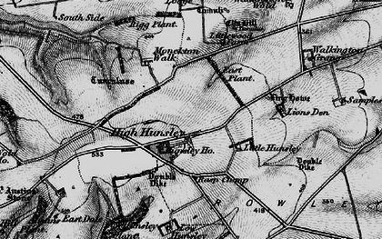 Old map of Lion's Den in 1898