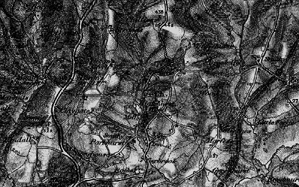 Old map of High Hurstwood in 1895
