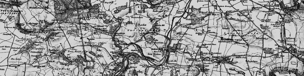 Old map of Westerdale in 1898