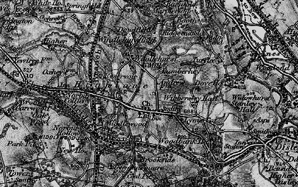 Old map of Wybersley Hall in 1896
