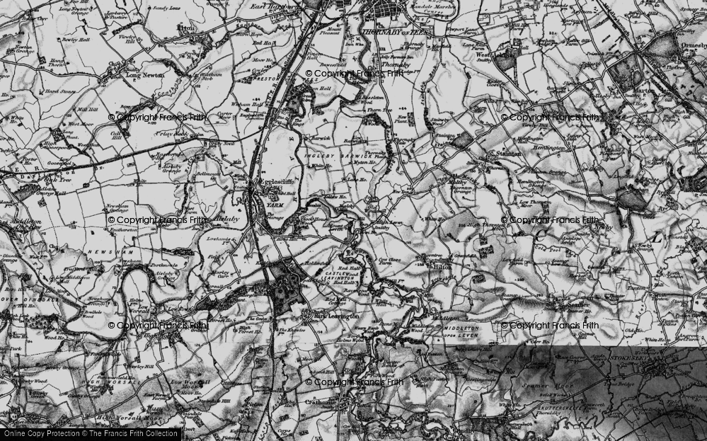 Old Map of Historic Map covering Leven Bridge in 1898