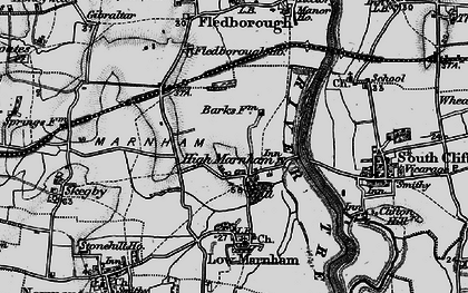 Old map of High Marnham in 1899