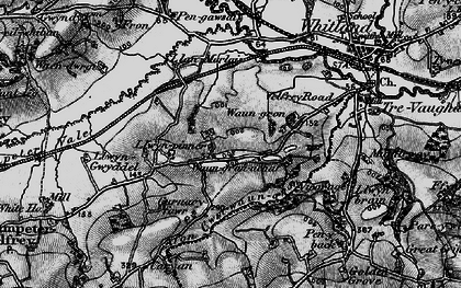 Old map of Afon Cwm-Waun-gron in 1898