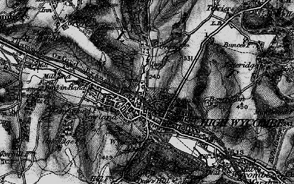 Old map of High Wycombe in 1895