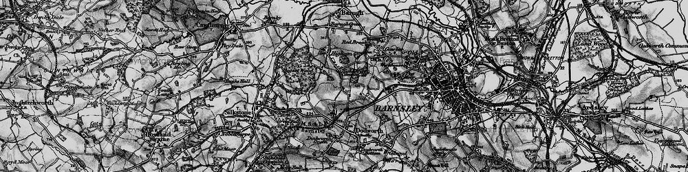 Old map of Higham Common in 1896